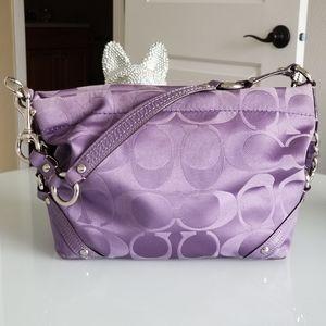 *COACH* Handbag - Lavendar w/Silver Hardware